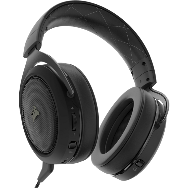 The CORSAIR HS70 PRO WIRELESS Gaming Headset delivers both comfort and quality with memory foam ear pads and custom-tuned 50mm neodymium audio drivers, built to last thanks to its lightweight and durable construction.