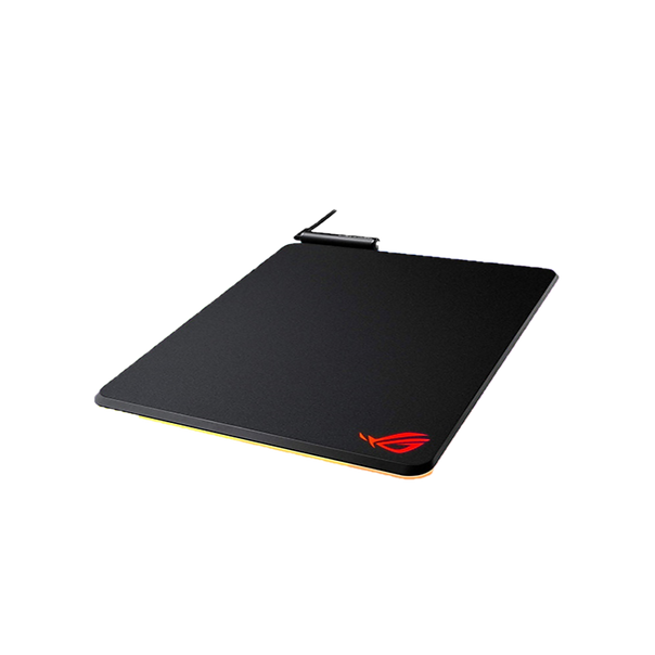 ROG Balteus is a gaming mouse pad with 15-zone Aura Sync RGB illumination to light up your desktop, your style. The large, portrait-oriented surface has a micro-textured finish for ultrafast tracking to give you the edge, so you'll sweep and strafe with absolute precision. And with a USB passthrough port and a nonslip rubber base, Balteus is the perfect addition to any gaming setup.
