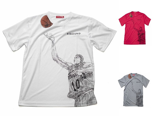 Slam Dunk T-Shirt (White/Grey/Red) - Hanamichi Sakuragi 櫻木 花道