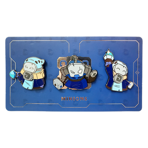 LOL - Blue Minion Pin Pack 藍方小兵 別針包