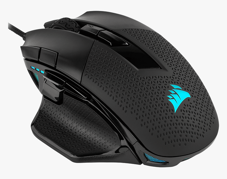The CORSAIR NIGHTSWORD RGB Smart Tunable Gaming Mouse is equipped with a cutting-edge 18,000 DPI optical sensor, sophisticated weight calibration and a real-time center of gravity detection system.   A comfortable contoured design, ten programmable buttons, and ultra-durable Omron switches deliver first-rate gaming performance. Two sets of weights and six mounting locations allow you to adjust weight between 119g and 141g with over 100 different configurations. Use CORSAIR iCUE software to enable real-time smart weight tuning, control dynamic four-zone RGB lighting, create custom macros, and calibrate your mouse to your playing surface. And with onboard profile storage to take your settings with you, NIGHTSWORD RGB makes for perfectly calibrated gaming anywhere, anytime.