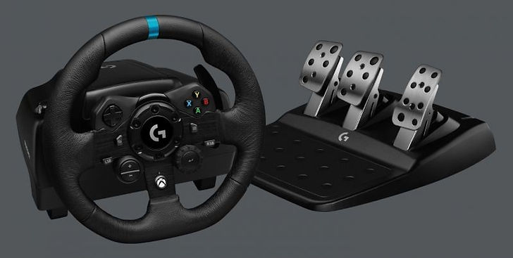 The Logitech G G923 Racing Wheel and Pedals is a video game controller system for Xbox/Playstation 4/Windows 10, mainly for the Arcade/Simulator racing gaming world. Compared to their previous offerings, they are positioning the G923 Racing Wheel as more simulator-leaning and immersive than their older similar wheels.  It has dual force feedback motors so you feel every collision, slipping of tires, and even the rumble of the engine. There are two models (nearly identical), one for Xbox and the other for Playstation systems. I reviewed the Playstation model on PS4, but both are also compatible with Windows 10 for PC gaming, which I also tested out. Both models will be also be compatible with the upcoming next-gen Xbox and Playstation consoles as well.  The Logitech G G923 Racing Wheel is great for arcade to entry-level sim gaming, but previous generation wheels are also excellent for a bit less.  These previous models have been supported by most games for years, so getting the G923 now should ensure a gaming controller that will work for many years to come.