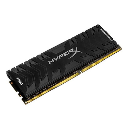 Give your AMD- or Intel-based system the performance needed to stay atop the food chain with the record-breaking, ultra-fast HyperX Predator DDR4. Boost your frame rate, keep your streams broadcasting smooth, and plow through your highlight reel editing with speeds up to 4800MHz paired with quick CL12–CL19 timings. The aggressive, stylish black heat spreader and matching black PCB will allow you to beat the heat and strike fear into the hearts of your foes. It's available in single module capacities of 8GB–32GB and kits of 2, 4, and 8 with capacities of 16GB–256GB. Predator DDR4 is Intel XMP certified with profiles that are optimized for Intel's latest chipsets – just select the hand-tuned profile in your BIOS and you're ready to go. 100-percent factory tested at speed and backed by a lifetime warranty and over 30 years of expertise, dependable Predator DDR4 gives you the best of both worlds: extreme performance and maximum peace of mind.