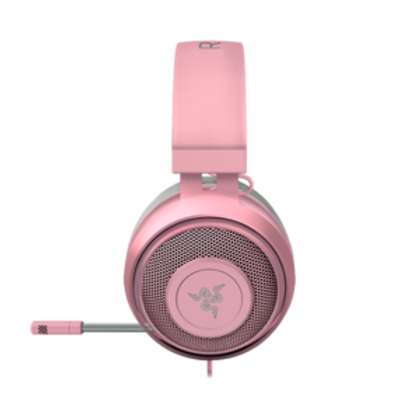 THE ICONIC GAMING HEADSET HAS EVOLVED Since its inception, the Razer Kraken has built a reputation as a cult classic within the gaming community. It made its mark as a staple at countless gaming events, conventions, and tournaments. We've now improved the features of this crowd favorite to not just give its audio quality a boost but also make it more comfortable so you can game all day with the headset you love. This is the new Razer Kraken. CLEAR & ACCURATE POSITIONAL AUDIO Equipped with 7.1 surround sound software so you can experience accurate positional audio when gaming—you'll be able to pick up the direction of where the action is coming from so you're ready to pounce into a gunfight. CLEAR & POWERFUL SOUND Enjoy superior sound clarity and deep, punchy bass for a wide soundscape. From subtle footsteps sneaking up behind you to climatic explosions that blow you away, every sound detail is heard when you're gaming with the Razer Kraken. THICKER HEADBAND PADDING We've improved the headband padding and made it even thicker so it relieves more pressure on your head for long-lasting comfort. The Bauxite aluminum frame of the Razer Kraken makes it lightweight, flexible, and extremely durable. PLAY COMFORTABLY FOR HOURS In order to take comfort to the next level, we've added cooling gel-infused ear cushions to reduce heat build-up. The soft cloth and leatherette combination provides a plush feel and sound isolation that lets you enjoy long gaming marathons. IMPROVED CARDIOID MICROPHONE The Razer Kraken's microphone utilizes a cardioid pickup pattern so that your voice is captured with clarity without any unnecessary background noise. It rejects noise from beside and behind the mic, so your teammates will always hear you loud and clear.