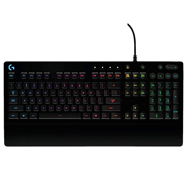 The Logitech G213 Prodigy Gaming Keyboard is an entry-level gaming keyboard with some of the bells and whistles gamers look for, but at a price that is more palatable to mom and dad. It gives you some gaming specialization, though Logitech saves money by using conventional membrane switches instead of the snappier mechanical kind, and corners are cut in a few other areas. Think of it as a gaming keyboard with training wheels, and you're most of the way there.