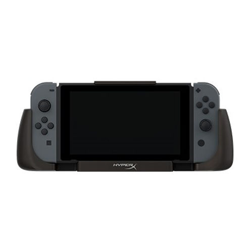The HyperX ChargePlay Clutch™ is a charging case for Nintendo Switch™ players that are looking for extended battery life. It features a 6000mAh battery that can keep your Switch charged through a long flight, road trip, or a gaming night. Convenient LED indicators tell you your current charge level. This versatile case has detachable rubber hand grips that work as Joy-Con™ grips, and a stable kickstand for gaming in Tabletop mode. The console docks directly via USB Type-C connector, and the securing latch keeps your Switch firmly in place.