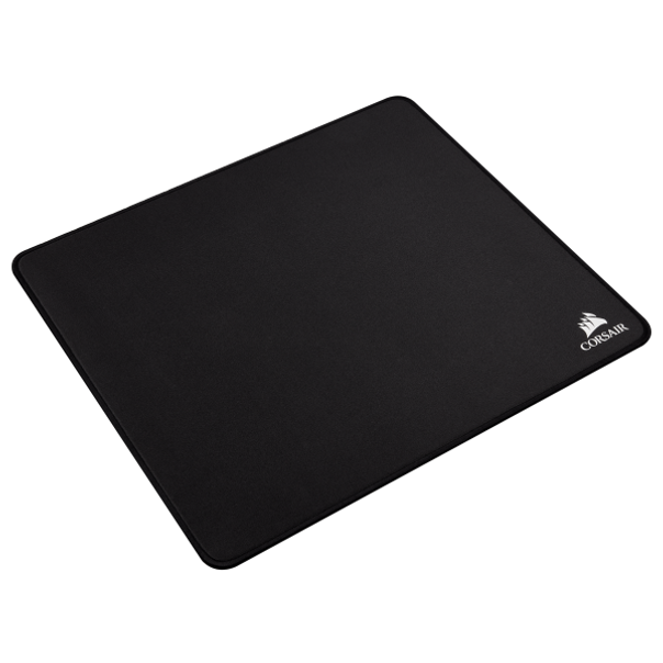 The CORSAIR MM350 Champion Series Anti-Fray Cloth Gaming Mouse Pad boasts an X-Large 450x400mm clean, solid black surface, designed to help esports pros and competitive gamers play at their peak performance.   Its 5mm thick plush rubber construction helps smooth out uneven desktop surfaces and keeps you comfortably in the game for longer sessions, while the precision-stitched, 360° anti-fray edge gives it long-lasting durability. Play with confidence thanks to the superior control of a glide-enhanced woven textile surface, optimized for high-performance gaming mice. With a wear-resistant surface and an anti-skid textured rubber base, you'll always have what it takes to play like a champion.