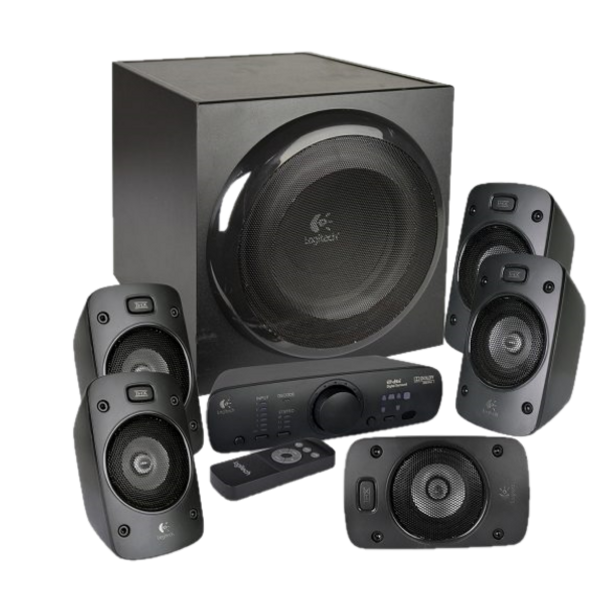 Immerse yourself in a theater-quality audio experience in the comfort of your home from this 5.1 speaker system. 1000 Watts peak/500 Watts RMS power delivers powerful surround sound that is THX Certified to bring you a premium audio experience as well as designed to decode Dolby Digital and DTS encoded soundtracks for premium movie and music playback.