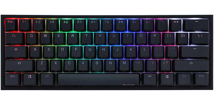 The Ducky One 2 Mini is very similar to Mecha Mini. But this keyboard is available in a variety of switches and sizes, as you can get a 60%, 65%, TKL, or full-size keyboard. The Ducky One 2 Mini is a great programming keyboard thanks to its amazing typing quality, great build quality, and full RGB backlighting. It's fully compatible on Windows, and only the calculator hotkey doesn't work on macOS and Linux. However, if you want something big, this might not you best choice.