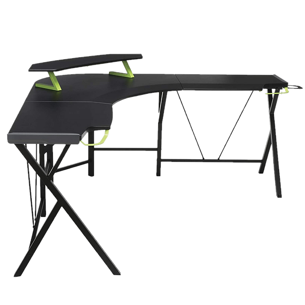 The Respawn 2000 Gaming L-Desk is the perfect computer desk mega-sized gaming battlestations. With a play space this big you'll have room for your gaming PC, gaming laptop, figurine collection, amiibos, and anything else you want.