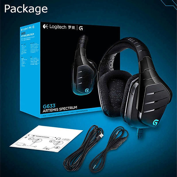 Logitech G633 with wired set up, the G633 Artemis Spectrum produces crisp 7.1 Dolby and DTS headphone surround sound. The advanced Pro-G drivers and On-Board Equalizers allow customizable audio for serious gamers, compatible with PCs, mobile devices, PS4s, the Xbox One, and more.Frequency response: 100Hz-20KHz.  On the multiple source audio mixing, having two devices (1 USB and a 3.5-millimeter connection) to answer calls and play music without interrupting your gaming session. Also utilize Logitech Gaming Software to choose from millions of lighting colors, set customized audio EQ, and program three G-keys with your favorite game macros.  The flexible boom microphone includes an LED light to let you know when you're on mute settings. Fold it back when not in use for a superior audio experience.