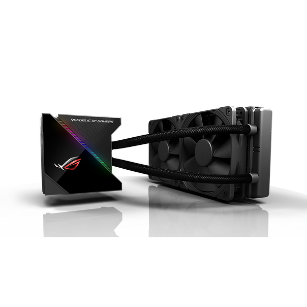ROG Ryujin all-in-one liquid CPU cooler with color OLED, Aura Sync RGB and Noctua iPPC 2000 PWM 120mm radiator fan