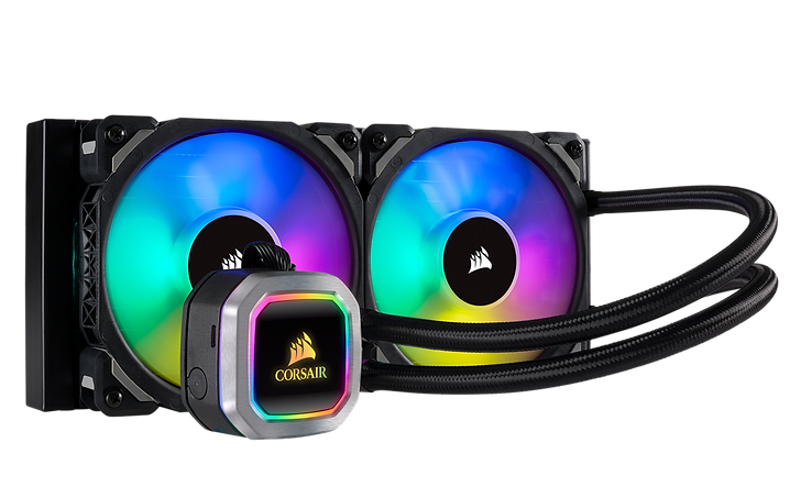 The CORSAIR Hydro Series H100i RGB PLATINUM is an all-in-one liquid CPU cooler with a 240mm radiator and vivid RGB lighting that's built for extreme CPU cooling.