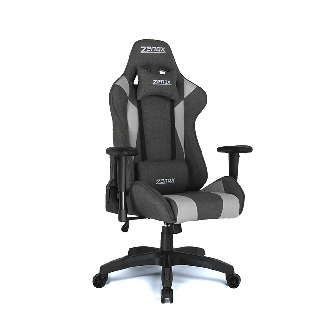 Zenox Saturn Racing Chair (Grey Fabric)