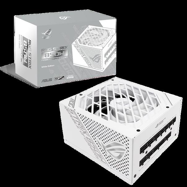 ROG Strix 850W White Edition 電源供應器獲得 80 Plus Gold 金牌認證,為主流產品帶來頂尖效能。  ROG 散熱器覆蓋關鍵組件,確保低溫並降低噪音。 Axial-tech 風扇設計具備較小的風扇輪轂以使用更長的葉片,阻隔環則可提高向下風壓。 雙滾珠風扇軸承的使用壽命可達套筒軸承設計的兩倍。 0dB 技術可讓您在相對較安靜的環境中享受輕量的遊戲。 80 Plus Gold 金牌認證是採用日製電容器及其他頂級組件的成果。 White Edition 設計包括白色機殼、模組化纜線、貼紙及磁鐵。 全模組化纜線保持裝備簡潔有序。 包含 10 年保固。