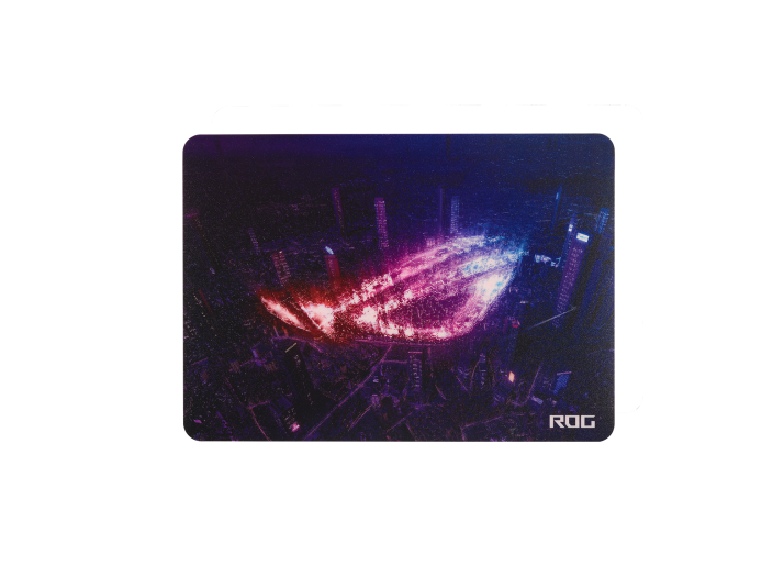 ROG Strix Slice is a thin portable mouse pad with a hard, low-friction surface for swift and smooth glides, and a nonslip silicone base that guarantees a firm grip during fierce action. With a glow-in-the-dark logo and durable polycarbonate surface, Strix Slice elevates your skill in any tournament.