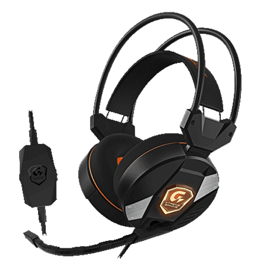 16.7M Customizable RGB Lighting Powerful 50mm Drivers Bendable Microphone Wearing Comfort for Prolonged Gaming In-line Sound Controls