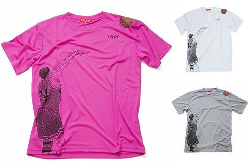 Slam Dunk T-Shirt (White/Grey/Shocking Pink) - Hisashi Mitsui 三井 壽