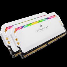 Corsair DOMINATOR® PLATINUM RGB 16GB (2 x 8GB) DDR4 DRAM 3200MHz C16 Memory Kit — White