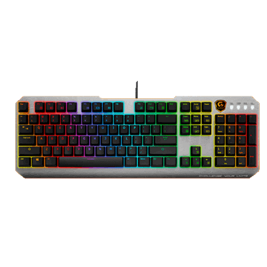 Per key backlighting for 16.7M RGB color Superior gaming mechanical key-switch Adjustable rubber feet stands On-the-fly multimedia and backlight control Full-range anti-ghosting capability