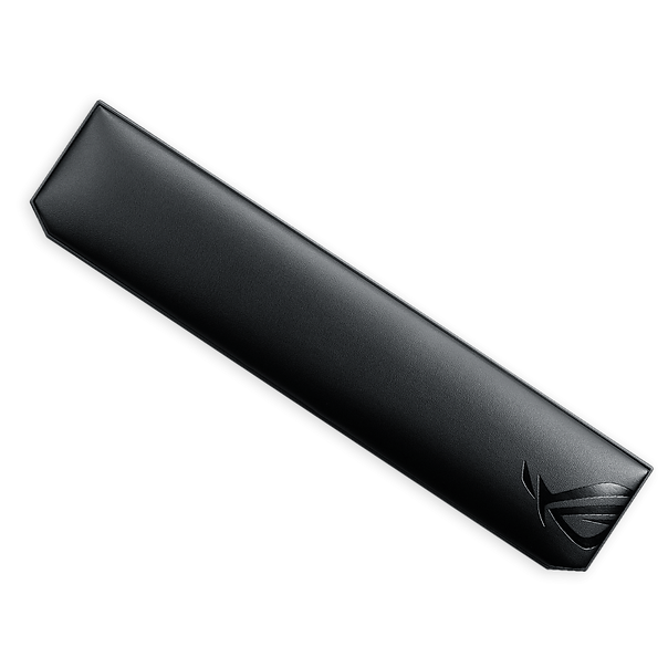 The ROG Gaming Wrist Rest is crafted for gamers who demand next-level comfort. With a foam core encased in fine leatherette, it offers cushioned support and a smooth, soft surface. It also features non-slip rubber feet that hold it firmly in place.