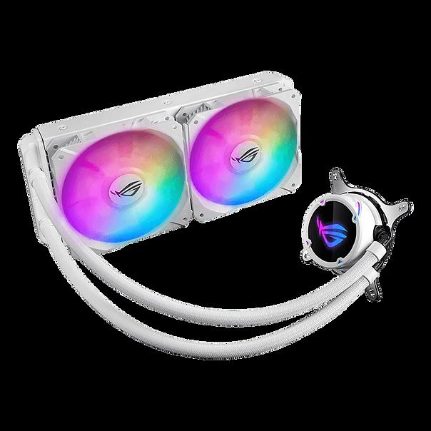 ROG Strix LC RGB White Edition 散熱器以潔淨全白的美學提供高效能的 CPU 液冷裝置。Strix LC RGB White Edition 採用封閉迴路設計及可定址的 RGB 散熱器風扇,可讓未鎖頻的 Intel 或 AMD CPU 釋放所有潛力,同時以炫麗的多重色彩燈光效果展現您的電腦。憑藉您期望從 ROG 獲得的效能、功能和風格,Strix LC RGB White Edition 散熱器已準備好成為您系統的重要組成部分。