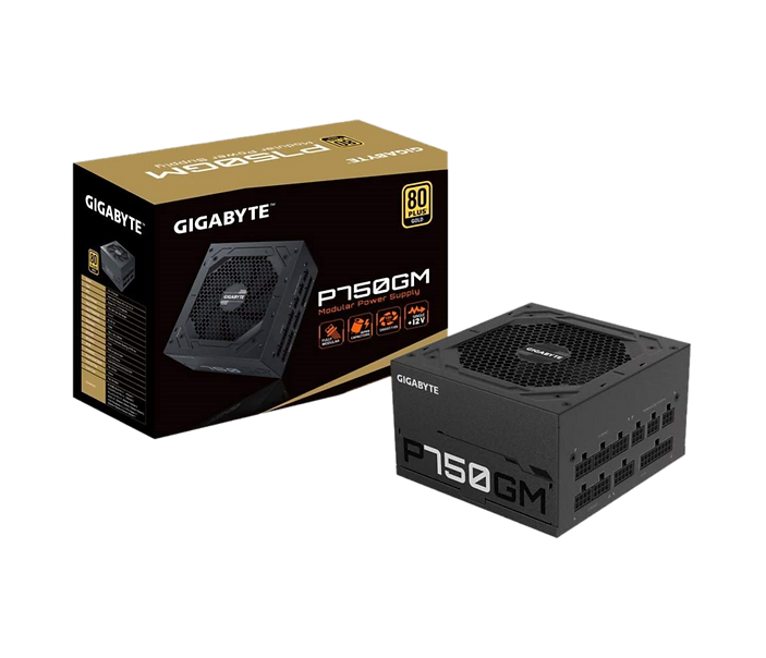 Model no. GP-P750GM Type Intel Form Factor ATX 12V v2.31 PFC Active PFC (>0.9 typical) Input Voltage 100-240 Vac (full range) Input Current 12-6 A Input Frequency 60-50 Hz Output Capacity 750W 尺寸 (長 x 寬 X 高) 150 x 140 x 86 mm Fan Type 120mm Hydraulic Bearing ( HYB ) fan 80 PLUS Gold Efficiency 90% at typical load MTBF >100,000 hours Protection OVP/OPP/SCP/UVP/OCP/OTP Power Good Signal 100-500ms Hold Up Time >16ms Cable Type Flat, All black 接頭 ATX/MB 20+4 Pin x 1 : 610mm*1 CPU/EPS 4+4 Pin x 2 : 600mm*2 PCI-e 6+2 Pin x 4 : 600mm+150mm*2 SATA x 8 : 600mm+150mm+150mm+150mm*2 : 4 Pin Peripheral x 3 + 4-Pin floppy x 1 : 500mm+120mm+120mm+120mm *1