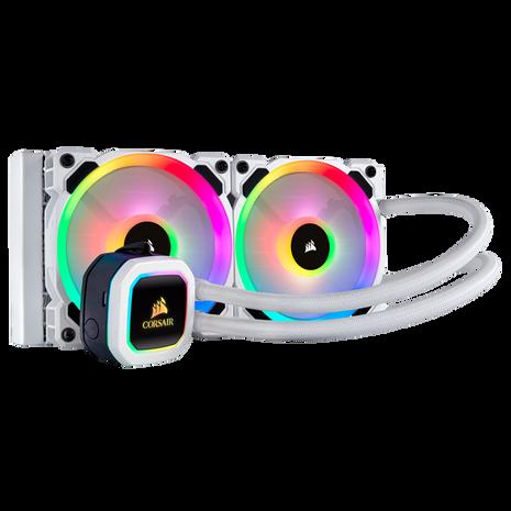 Corsair Hydro H100i RGB Platinum 240MM Liquid CPU Cooler - White