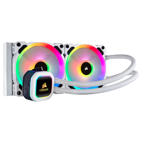 Corsair Hydro H100i RGB Platinum 240MM Liquid CPU Cooler - White