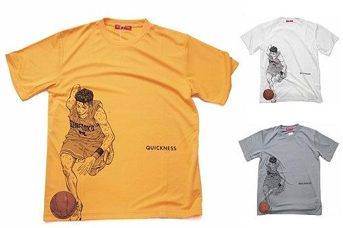Slam Dunk T-Shirt (White/Grey/Light Orange) - Ryota Miyagi 宮城 良田