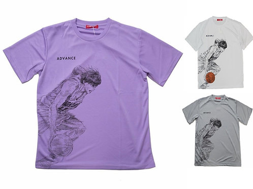 Slam Dunk T-Shirt (White/Grey/Purple) - Kaede Rukawa 流川 楓