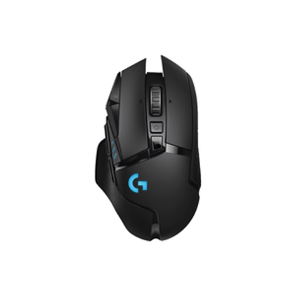 G502 HERO features an advanced optical sensor for maximum tracking accuracy, customizable RGB lighting, custom game profiles, from 100 up to 16,000 DPI, and repositionable weights.