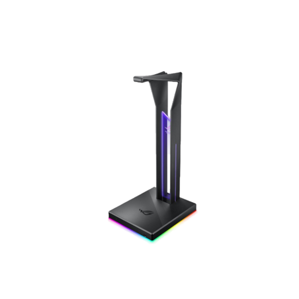 ROG Throne Qi is a gaming headset stand with wireless charging designed to keep your Qi-enabled smartphone or other compatible devices ready for action and your gaming area organized. A built-in ESS DAC and amplifier upgrades your headphone audio experience, delivering immersive gaming audio, while customizable 360-degree RGB lighting effects that synchronize with other Aura Sync accessories enable a stunning, unified lighting experience. ROG Throne Qi also features an ultrafast, two-port USB 3.1 hub with power delivery, rounding it out as a complete solution for organizing and upgrading your gaming setup.