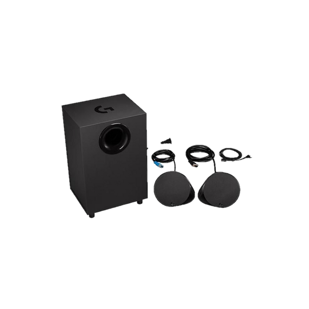 It's the perfect compromise if you want surround sound without the hassle of a 5.1 or 7.1 set. The G560 comes with a very powerful down-firing subwoofer which proved to be amazing for things like explosions but became quite overpowering at low volumes while listening to music.