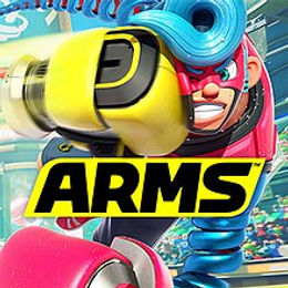 Arms is a 3D fighting sports game in which up to four players can control one of a variety of fighters, with the player able to perform basic fighting actions using extendable arms such as punching, throwing, blocking, and dodging. Arms features fifteen playable fighters, with five of them being released as downloadable content.Each fighter starts with three unique Arms that can be selected in battle, but the use of all other fighters' Arms can be unlocked in the Get Arms mode. All fighters also have unique attributes in combat.