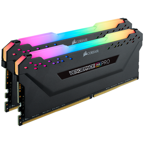 Corsair VENGEANCE® RGB PRO 16GB (2 x 8GB) DDR4 DRAM 3000MHz C16 Memory Kit - Black