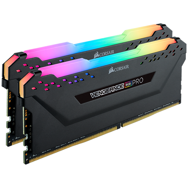 Corsair VENGEANCE® RGB PRO 16GB (2 x 8GB) DDR4 DRAM 3000MHz C16 Memory Kit - Black