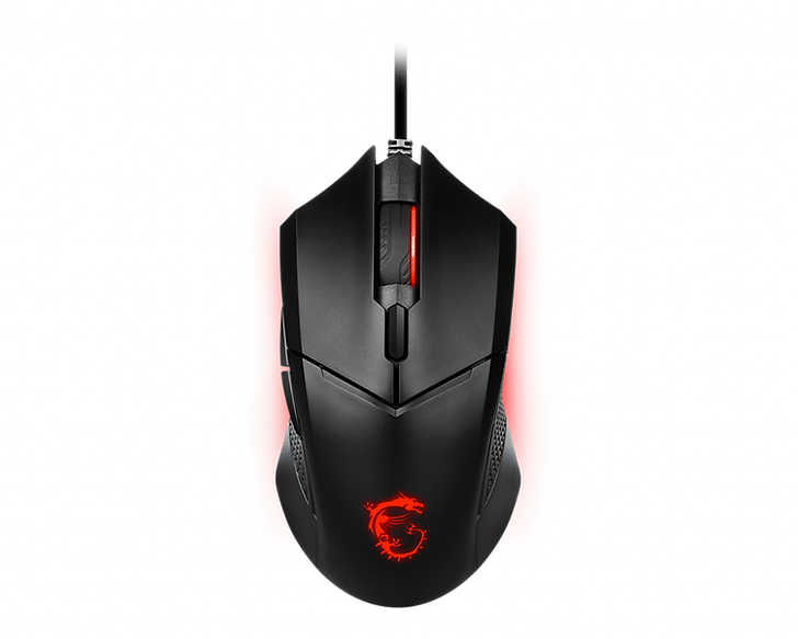 The MSI CLUTCH GM08 GAMING MOUSE. An ergonomic design gaming mouse with a symmetrical shape, built around the PixArt PAW 3519 optical sensor which supports up to 4200dpi for fast and precise tracking.  Despite being light, this mouse is durable with gaming switches rated for over 10 million clicks. The adjustable weight system makes the mouse as light or heavy as you want.