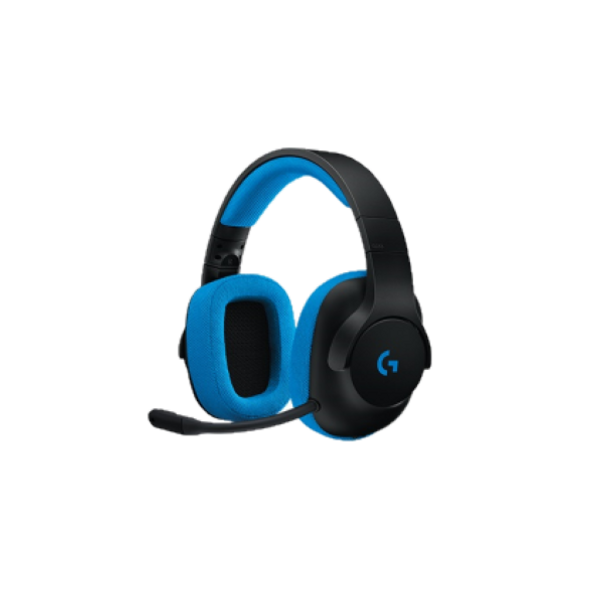 Sounds Like. As far as headsets with 40mm drivers, the bass response of the G233 is surprisingly punchy. But again, you'll need to crank the volume to get the full experience on offer. High ends are also crisp if a little artificially sharp, and the mid-range response is good for the price.