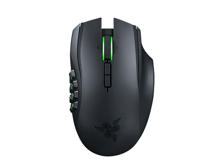 RAZER HYPERSPEED WIRELESS 25% faster than any other wireless technology available, you won't even realize that you're gaming with a wireless mouse due to its high-speed transmission, lowest click latency, and seamless frequency switching in the noisiest, data-saturated environments. 3 SWAPPABLE SIDE PLATES This modular wireless gaming mouse comes with 3 types of side plates that snap on magnetically—12, 6 and 2-button layouts specially designed to help you adapt across different game genres. Optimize your game with these recommended button configs for each side plate.