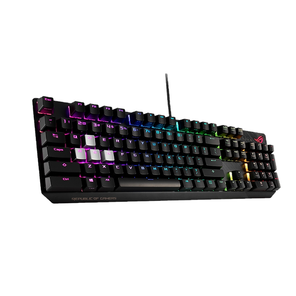 Extend your battlefield prowess with ROG Strix Scope, the mechanical gaming keyboard with Xccurate Design – an extra-wide Ctrl key for FPS precision. Enjoy colorful RGB Aura Sync backlighting, hit the Quick-Toggle Switch for work or play, and push the Stealth key for instant privacy. The keyboard is even finished with an aluminum faceplate for everyday resilience with a touch of style. Power to victory, with the power of ROG Strix Scope.