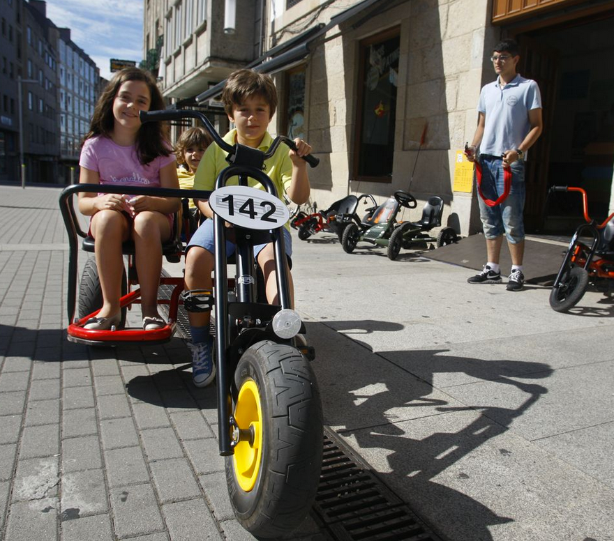 Karts a pedales por el centro