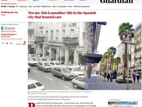 Para mi, esto es el paraiso. Pontevedra la ciudad española que desterró a los coches.
