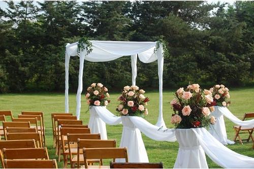 Wedding Venue Aisle Alter White Flowers
