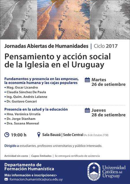 Exposición de la Vicepresidente de ACDE, Sra. Claudia Sánchez, en la Jornadas Abiertas de Humanidade