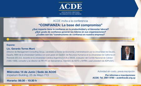Conferencia: Confianza: la base del compromiso