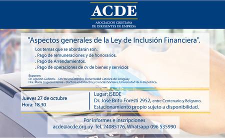 """""""Aspectos generales de la Ley de Inclusión Financiera""""."""