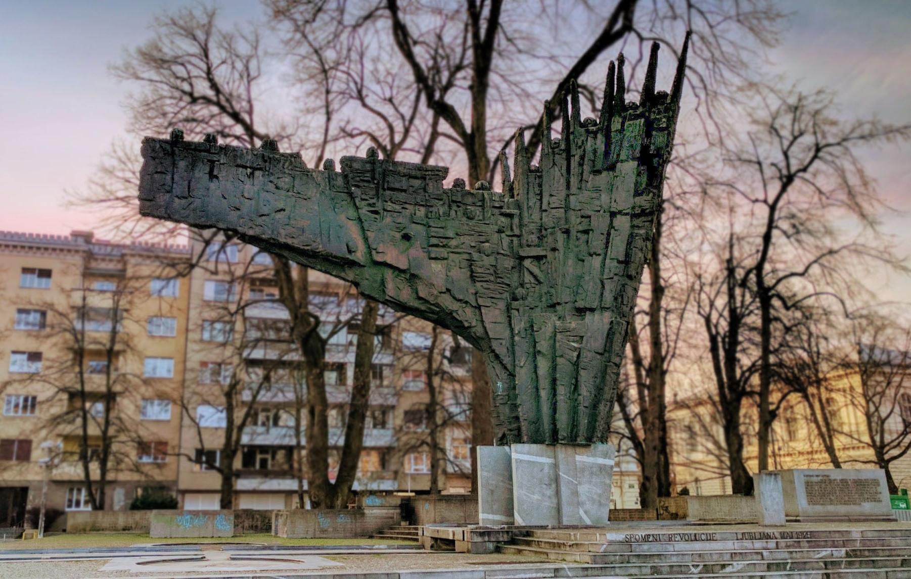 Spomenik Database Monument To The Revolution In Ljubljana