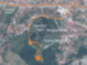 Map to the location of the monument at the spomenik complex in Čačak, Serbia.