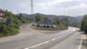 Turn off of main road towards Veles spomenik